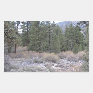 Mountain Views Rectangular Sticker