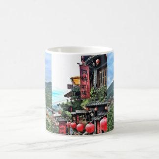 Mountain village and Chinese teahouse Coffee Mug