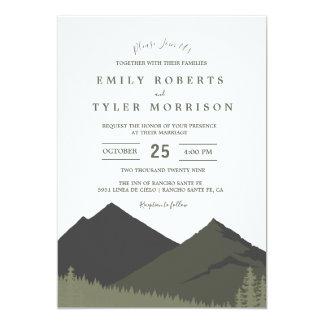 Mountain Woodland Forest Wedding Invite