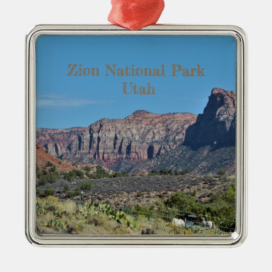 Mountain Zion National Park Christmas Ornament