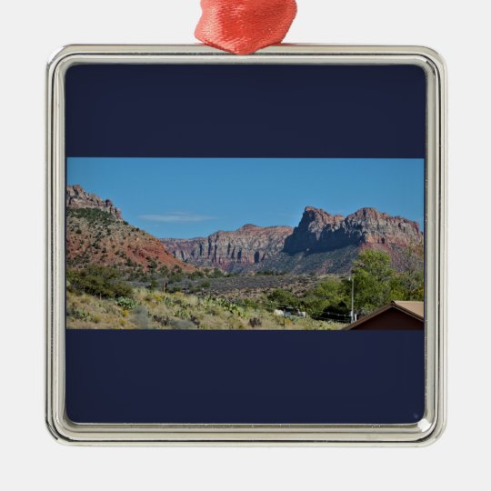 Mountain Zion National Park Christmas Ornament