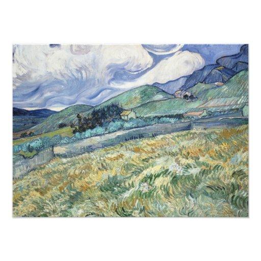 Mountainous Landscape by Van Gogh Photograph