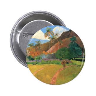 Mountains in Tahiti - Paul Gauguin 6 Cm Round Badge
