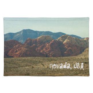Mountains in the Desert; Nevada Souvenir Placemat