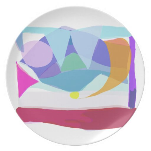 Mountains Party Plate