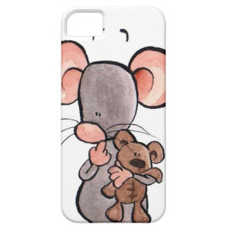 Mouse and teddy bear illustrated phone case
