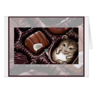Mouse in the Chocolate Box Greeting Card