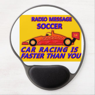 Mouse Pad: Soccer, Car Racing IS Faster Than You Gel Mouse Pad