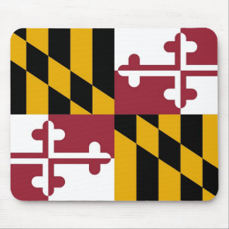 Mouse pad with Flag of Maryland State - USA