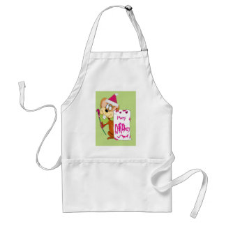 Mouse painting Merry Christmas Aprons