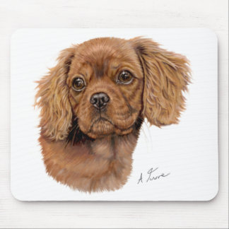 Mousemat : Cavalier king charles spaniel pup