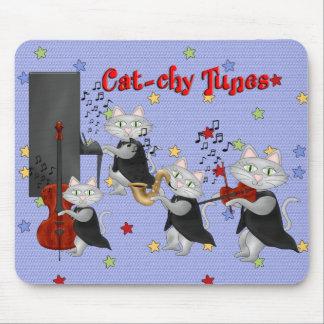 Mousepad Cute Cats Music Musical Cat Band