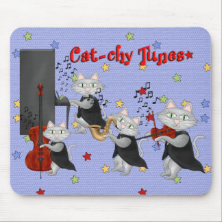 Mousepad Cute Cats Music Musical Cat Band Mouse Pads