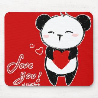 "Mousepad ""Love you panda """