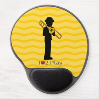 Mousepad with trombone player