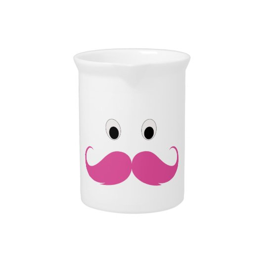Moustache in pink is funny pitcher