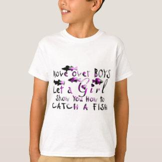 MOVE OVER BOYS GIRLS FISHING T-Shirt