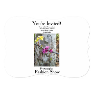 "Movie Actress Laura Guillen aka Ishah Photography 5"" X 7"" Invitation Card"