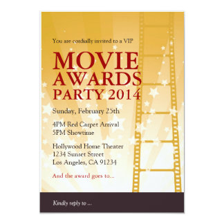 Movie Awards Party Invitation