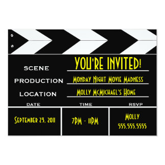 Movie Clapper Board Custom Invitation