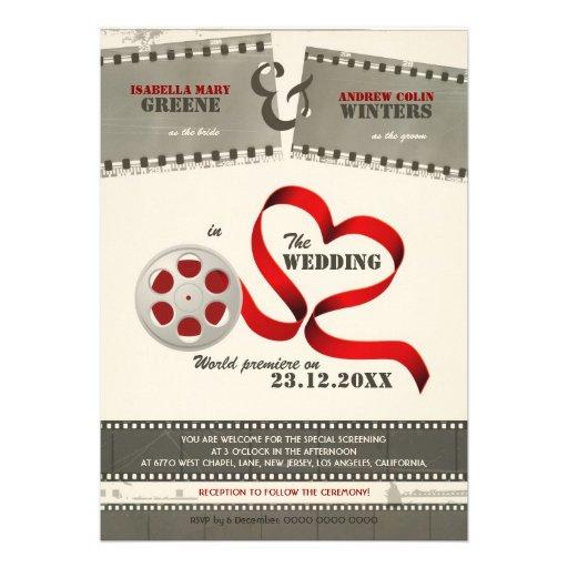 Movie Love Wedding Invitation
