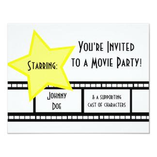 Movie Party 11 Cm X 14 Cm Invitation Card