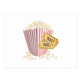 Movie Popcorn Postcard