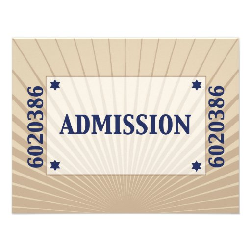Movie Star Bar Mitzvah Reply Card B in Navy Tan Announcements