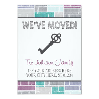 Moving Announcement Card | We Have Moved, New Home