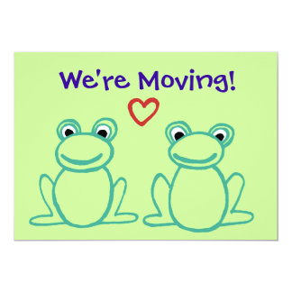 Moving Announcement - Frogs with Heart