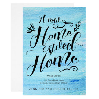 Moving Announcement, Home Sweet Home Typography Card