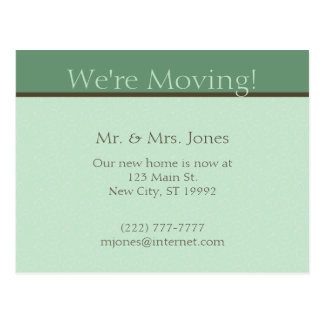 Moving Announcement Postcard