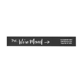 Moving Announcement Return Address Wrap Around Label