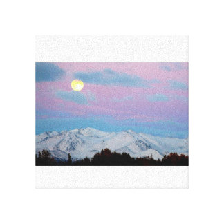 Moving Mountains for the Moon Stretched Canvas Print