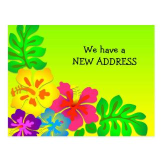 Moving to the Tropics Custom New Address Postcard