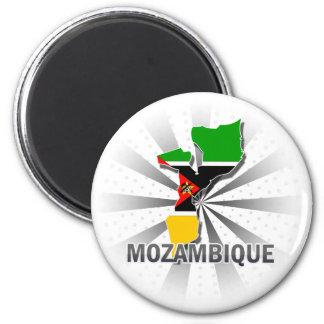 Mozambique Flag Map 2.0 6 Cm Round Magnet