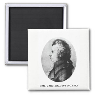 Mozart side-view portrait magnet