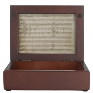 Mozart Violin Concerto Music Manuscript Keepsake Box