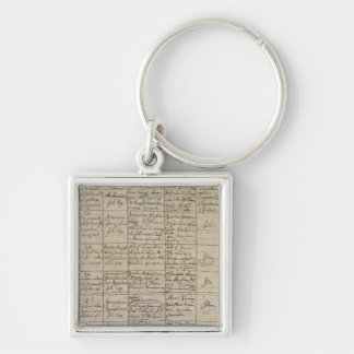 Mozart's entry in the baptismal register, 1756 Silver-Colored square key ring