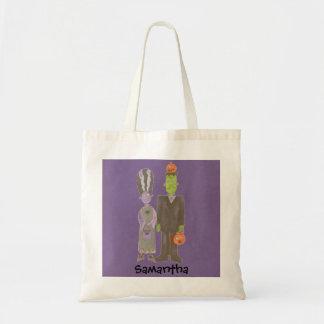 Mr. and Mrs. Frankenstein Trick or Treat Custom Gr Tote Bag
