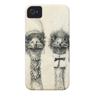 Mr. and Mrs. Ostrich iPhone 4 Cover