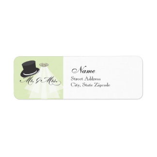 Mr. and Mrs. Return Address Label - Green