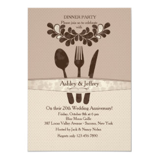 Mr. and Mrs. Utensils Dinner Party Invitation
