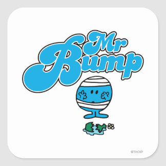 Mr. Bump | Broken Vase Square Sticker