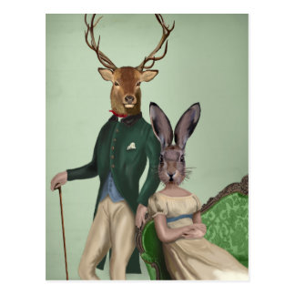 Mr Deer and Mrs Rabbit 2 Postcard