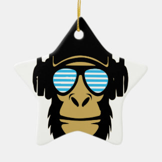Mr.Dubstep Monkey Christmas Ornament