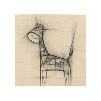 Mr. Giraffe Wood Print