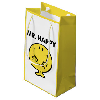 Mr. Happy | Giant Smiley Face Small Gift Bag