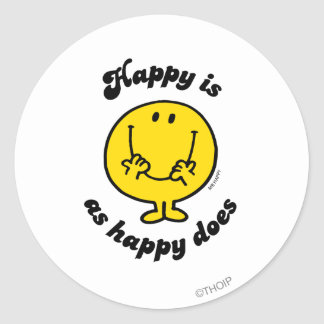 Mr. Happy | Happy Is As Happy Does Classic Round Sticker