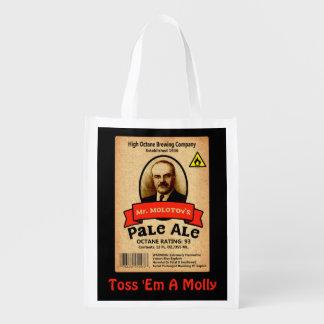 Mr. Molotov's Pale Ale Label Reusable Grocery Bag